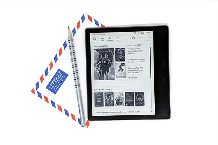Amazon Kindle Oasis fasst in der 32 GB Version tausende von E-Books