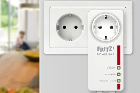 FRITZ!Powerline 546E bietet zusätzlich eine intelligente Steckdose