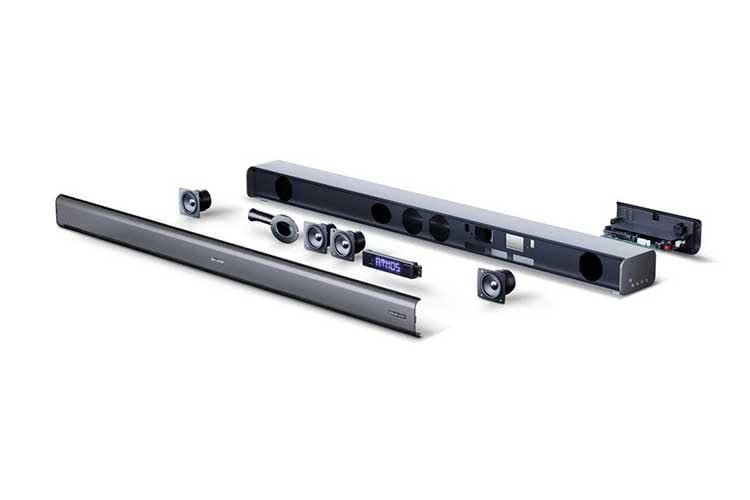Die Sharp Soundbar HT-SBW460 bietet ein 3.1 Kanal-System und kommt mit einem externen Subwoofer (hier nicht im Bild)