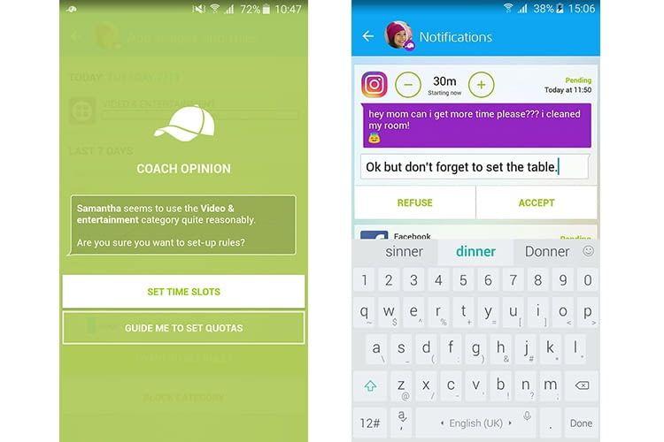 Eltern können in der Xooloo Parents App Nutzungszeiten für ihre Kinder einstellen