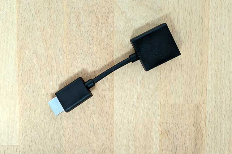 Die HDMI-Verlängerung hilft weiter, falls der Anschlussschacht am TV zu kurz ist
