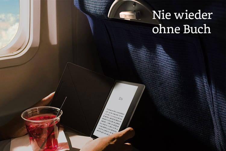 """Das große Display des Amazon Kindle Oasis 2017 sorgt für mehr """"Buchgefühl"""""""