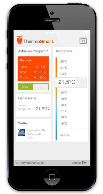 ThermoSmart erlaubt die Heizungssteuerung mit oder ohne App