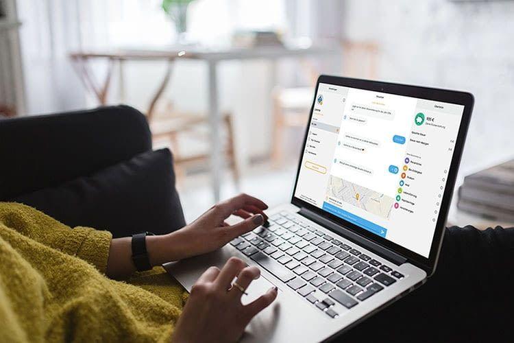 Am Computer lässt sich die Steuererklärung mit Steuerbot über das Internet erledigen
