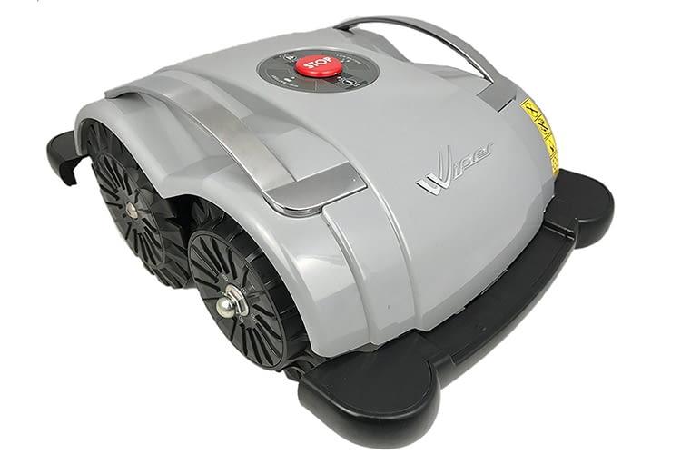 Der Wiper ECO Blitz 2.0 ist ein Mähroboter, der ohne Begrenzungskabel auskommt