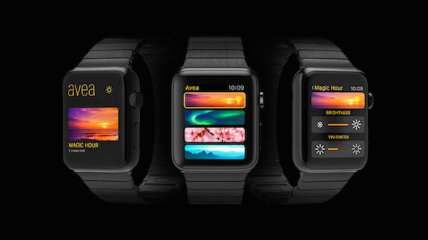 Abbildung der Elgato Avea auf der Apple Watch