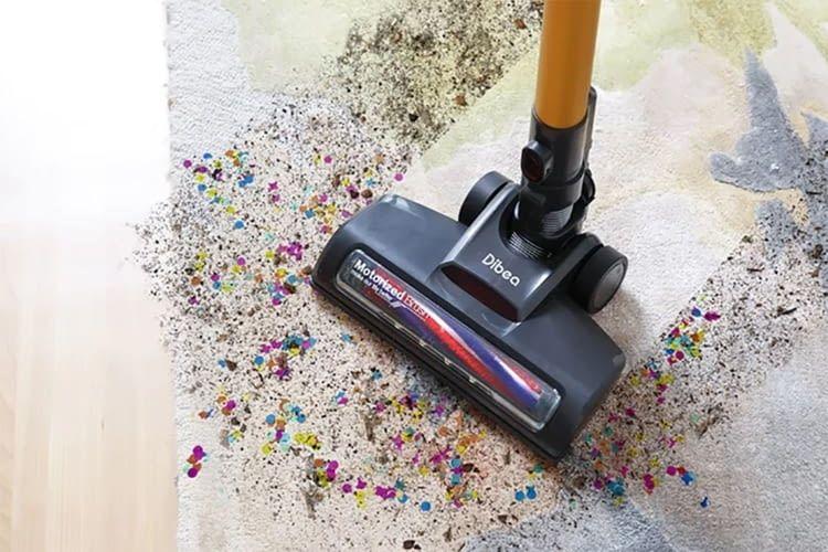 Dibea Cordless Vacuum Cleaner reinigt Böden, Vorhänge oder Wände