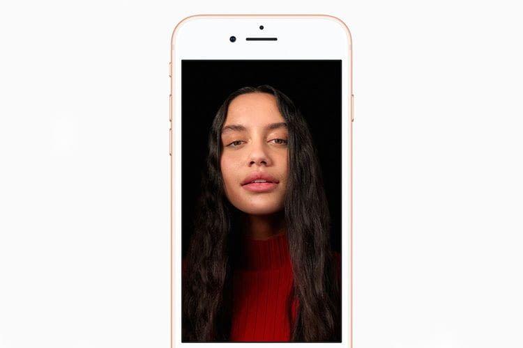 Im Portrait-Modus des Apple iPhone 8 Plus setzt das iPhone verschiedene Hintergründe ein