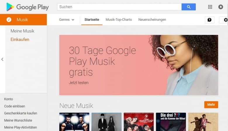 Über Google Play Music können eigene Dateien am Google Home ausgegeben werden