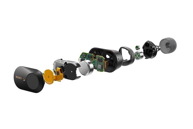 Sony hat beim True Wireless Kopfhörer Sony WF-1000XM3 viel Technik auf engstem Raum verbaut