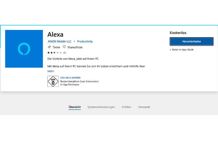 Die Alexa App im Windows Store: Jetzt ist Alexa auch mit Windows-Phones kompatibel