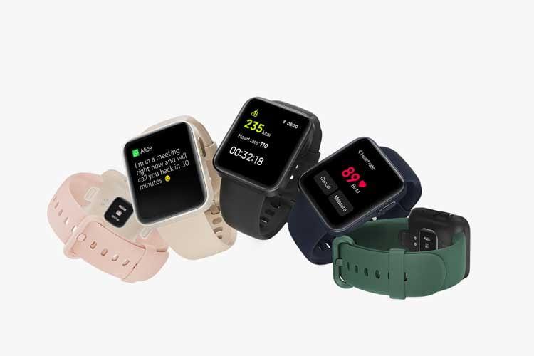 Nutzer haben bei Xiaomi Watch Lite die Wahl zwischen verschiedenen dezenten Farbnuancen