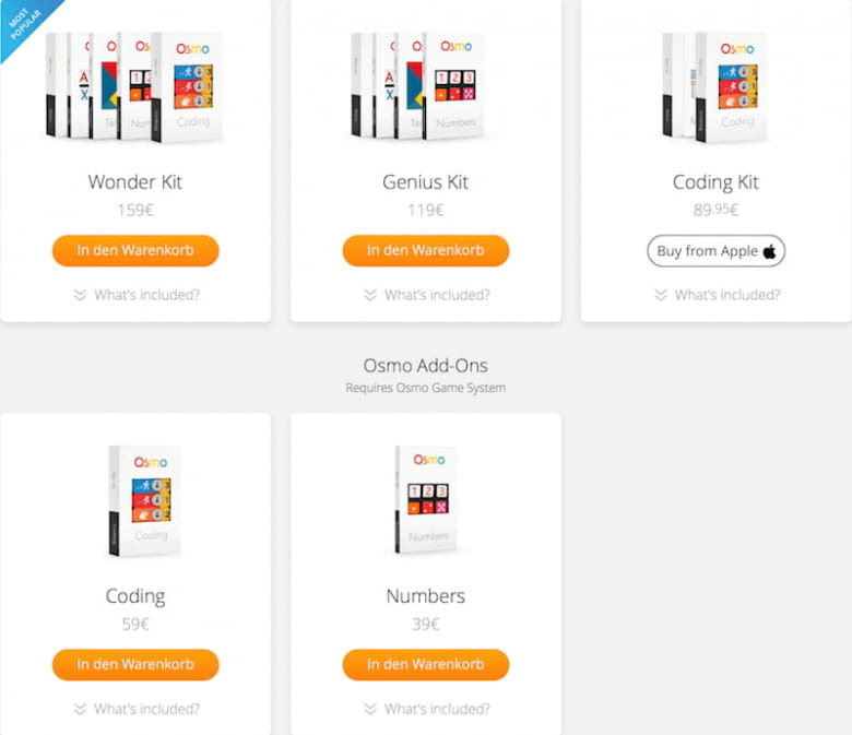 Osmo Coding Kits - die Spiele kaufen