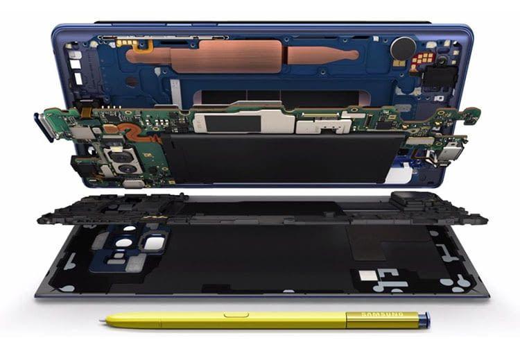 Das Samsung Galaxy Note9 bietet viel High-End-Technik auf engstem Raum