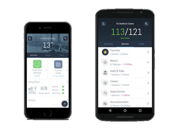 Abbildung der Domotz App - Smart Home Software