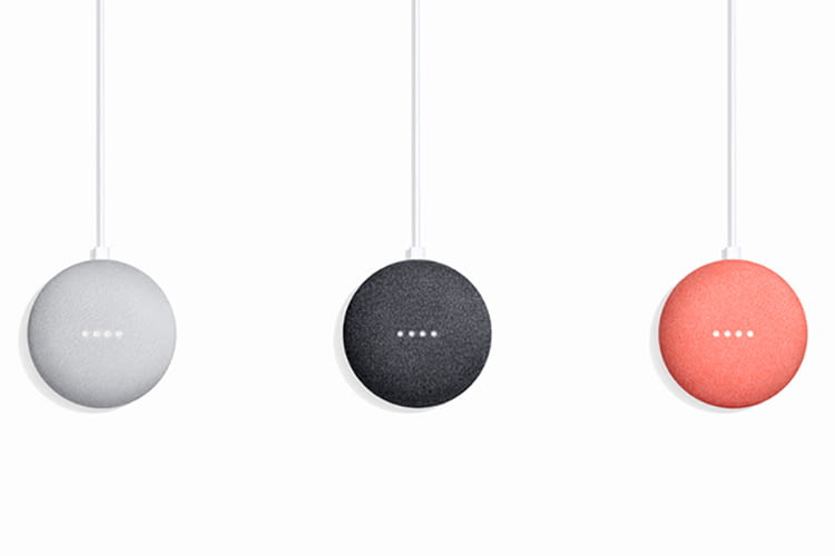 Google Home Mini ist in Deutschland in drei verschiedenen Farben erhältlich
