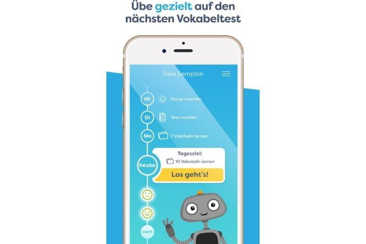 In der App können auf Wunsch individuelle Lernpläne angelegt werden