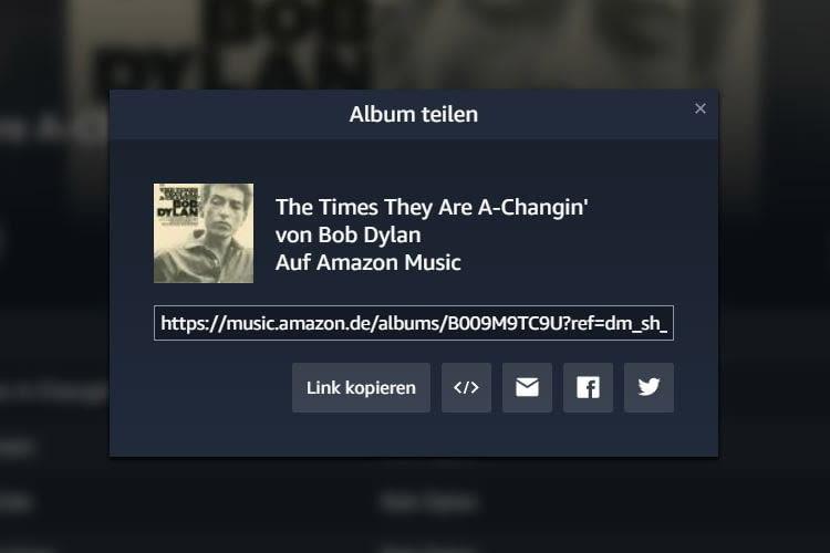 Zeigen, was gefällt. Die Amazon Music Sharing-Funktion macht's möglich