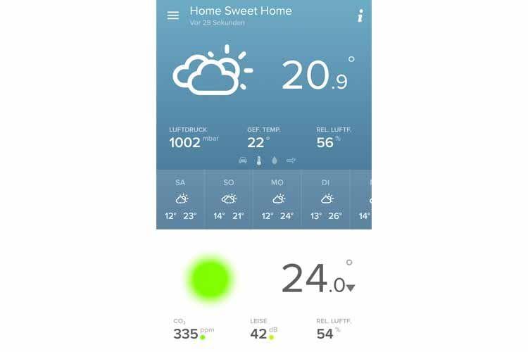 Alle Wetterdaten im Überblick mit der Netatmo-App