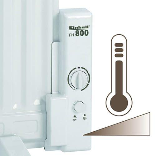 Einhell FH 800 Flächenheizer mit stufenlosem Thermostatregler