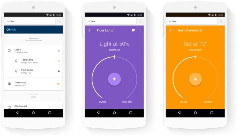 Die Google OnHub App erleichtert die Steuerung