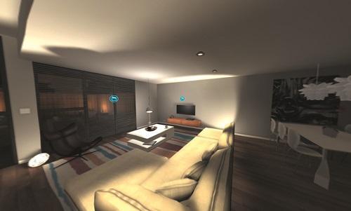 Die App simuliert ein smartes Zuhause @ Busch-Jäger