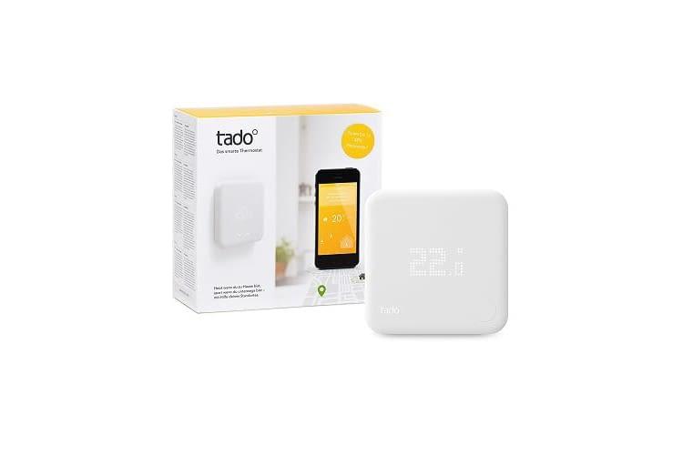 Das tado° Thermostat Starter Kit (v2) ermöglicht die flexible Heizungssteuerung auch von unterwegs