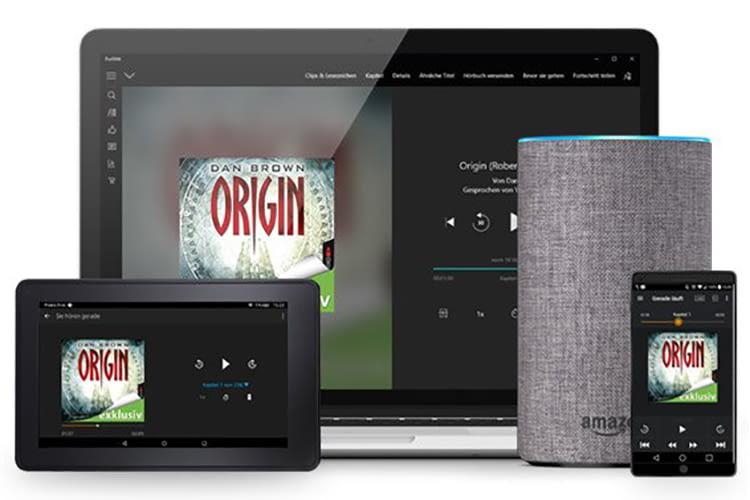 Die Audible Hörbücher können auf Tablet, PC, Smartphone und Amazon Echo abgespielt werden