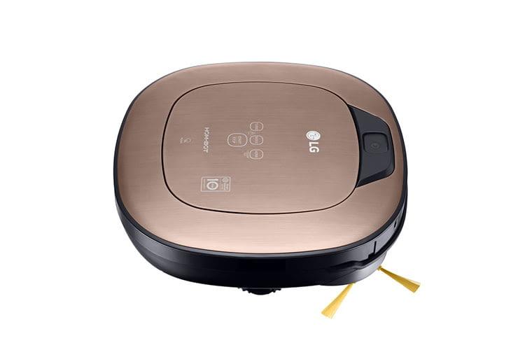 Der LG Saugroboter VRD 830 MGPCM hat zwei Kameras, drei Ultraschallsensoren und 3 Stufen- und Absatzsensoren
