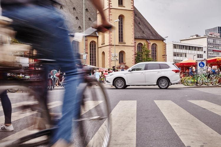 Mitsubishi Outlander Plug-in-Hybrid auch besten für die Stadt geeignet
