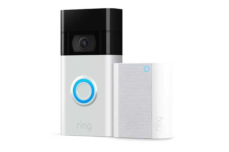 Das günstige Ring Bundle aus Video Doorbell und Chime (2. Gen) benötigt ein 2,4 GHz WLAN. Der Akku ist im Gehäuse integriert