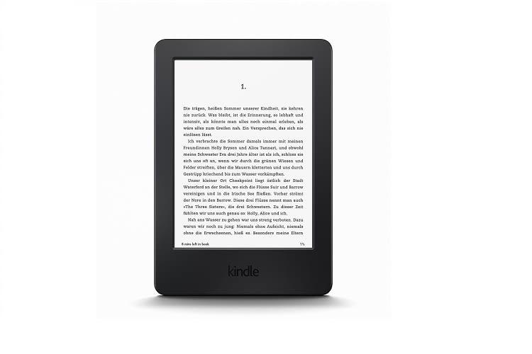 Der Textfluss wird beim Kindle eReader dynamisch dem Leseverhalten angepasst