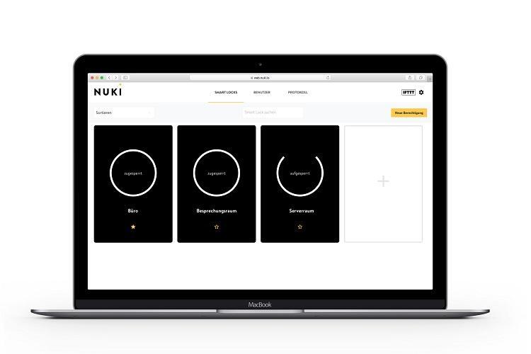 Nuki Web zeigt alle smart Locks übersichtlich an