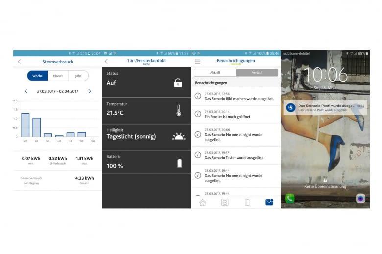 Die App gibt Informationen zum Stromverbrauch