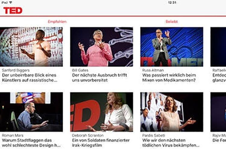 Das Meiste aus TED-Talks holt man, wenn man sie auf dem Fernseher anschaut