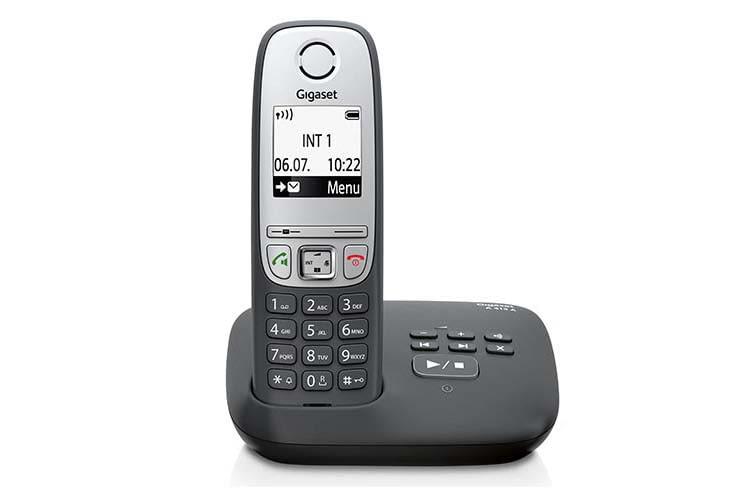 Das Gigaset A415A verfügt über einen in der Basisstation integrierten Anrufbeantworter