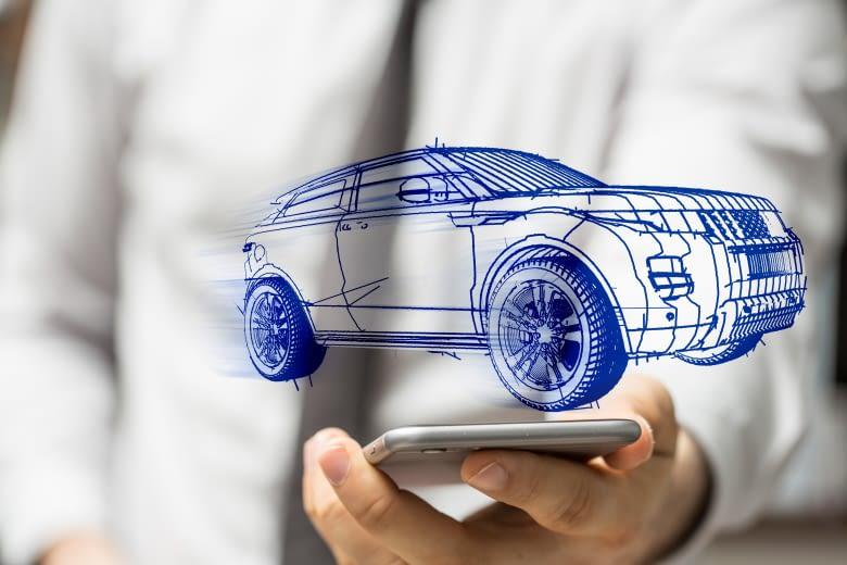 Die Autodaten sind vom Smartphone aus einsehbar