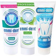 Ultraschall-Zahnpasta mit 3 Sorten à 75ml - Whitening, Nature und Fresh. Ideal zum Testen.