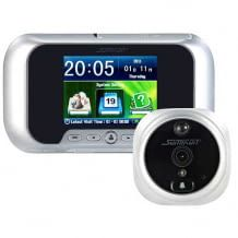 Türspion, Überwachungs-kamera und Alarmanlage kombiniert. Inkl. 100 Grad Erfassungswinkel und Bewegungssensor.