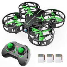 Mini-Drohne mit 3 Akkus und Propellerschutz, geeignet für zu 21 Minuten Flugzeit