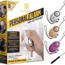 140 dB laute Sirene, die bis zu 40 min Alarm schlagen kann, inkl. weißer LED-Minitaschenlampe