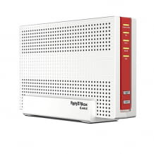 Dual-WLAN AC+N Router mit integriertem DOCSIS-3.1-Kabelmodem, VoIP-Telefonanlage und 4 Gigabit-LAN-Anschlüssen.