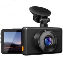 Dashcam mit 1080p Auflösung sowie mit einem 170° Weitwinkelobjektiv, Bewegungserkennung und Loop-Aufnahme