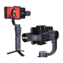 Smartphone-Gimbal für flüssige Aufnahmen. Mit Timelapse, Object-Tracking, Hochformat-Aufnahmen und Zoom Funktion.
