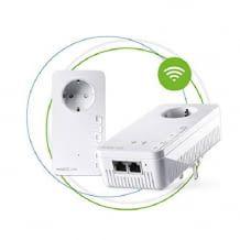 Starter-Set zum Aufbau eines WLAN Mesh Netzwerks mit vorhandenem Router über die Steckdose