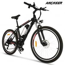 Allwetter E-Bike mit mechanischer Scheibenbremse, leistungsstarker 8 Ah-Lithiumionenbatterie, LED-Lichtern, Lautsprechern und Reflektoren.