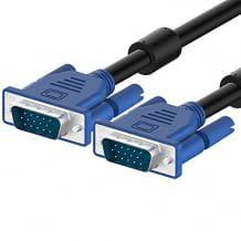 Der 1,8m VGA-Kabel mit geformten Zugentlastung Steckverbinder für eine lange Lebensdauer konstruiert. Unterstützt Auflösungen mit bis zu 1080p (Full HD).