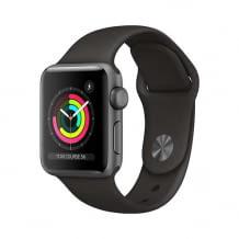 Apple Watch mit Retina Display, schwimmfestem Design, optischem Herzsensor und Höhenmeter-Angabe. Inkl. Sportarmband.