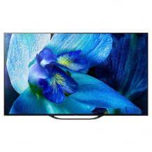 55 Zoll OLED Fernseher mit Dolby Vision HDR-Wiedergabe und integriertem Subwoofer.