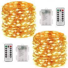 Zwei 10 Meter lange Lichterketten mit je 100 LEDs und Fernbedienung mit Timer-Funktion.
